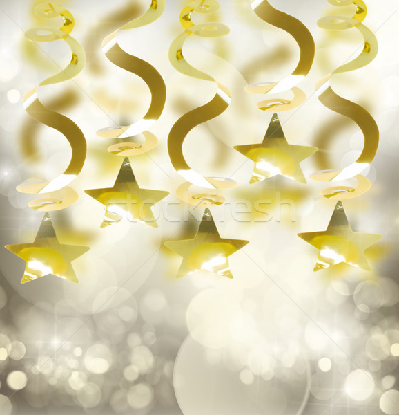 golden garlands with star Stock photo © neirfy