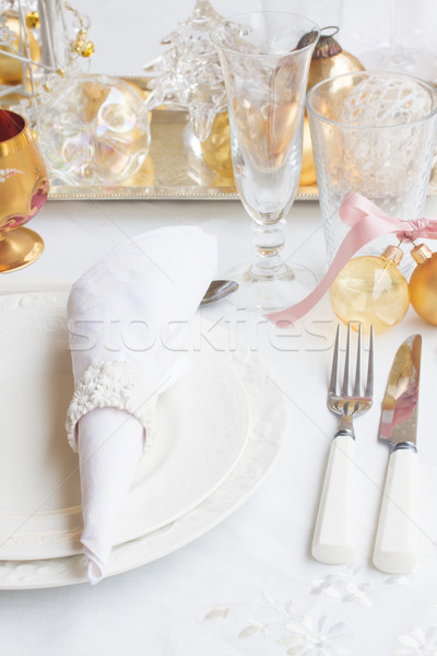 Christmas Tableware set Stock photo © neirfy