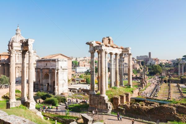 Forum romana rovine Roma Italia noto Foto d'archivio © neirfy