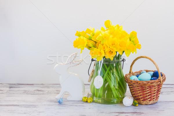 Easter eggs hunt Stock photo © neirfy