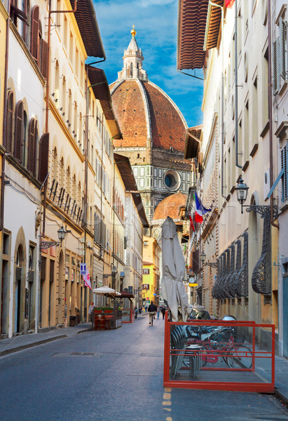 street in old town, Florence, Italy Stock photo © neirfy