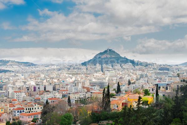 Cityscape Atenas colina Grécia céu edifício Foto stock © neirfy