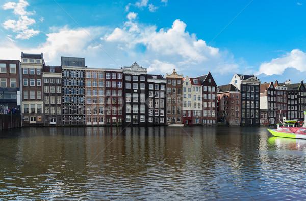 Сток-фото: домах · Нидерланды · типичный · голландский · старые · канал