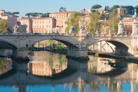 Zdjęcia stock: Katedry · most · kopuła · rzeki · Rzym · Włochy