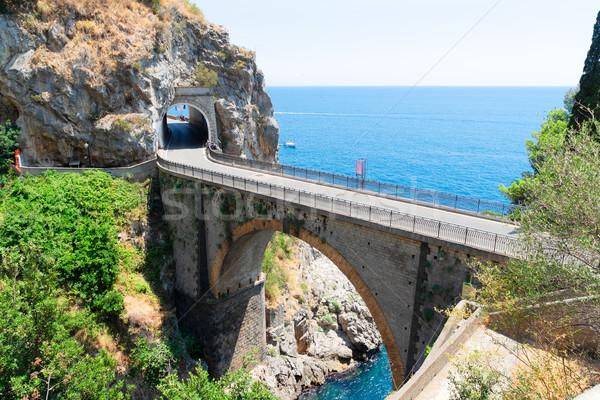 Route côte Italie célèbre pittoresque roches Photo stock © neirfy