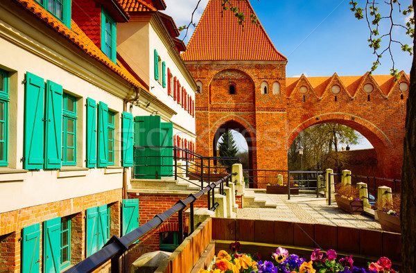 street in old town of Torun,  Poland Stock photo © neirfy
