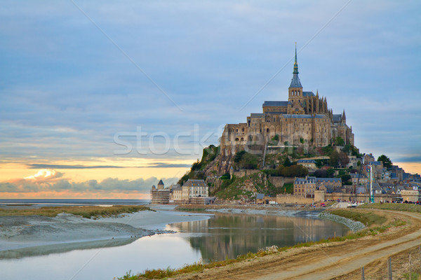 Mont Saint Michel at sunset , France Stock photo © neirfy