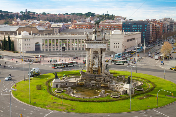 Fountain of square of Spain, Barcelona Stock photo © neirfy
