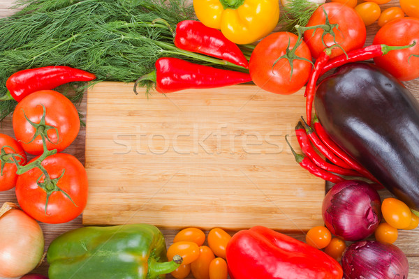 cutting board with vegetables Stock photo © neirfy