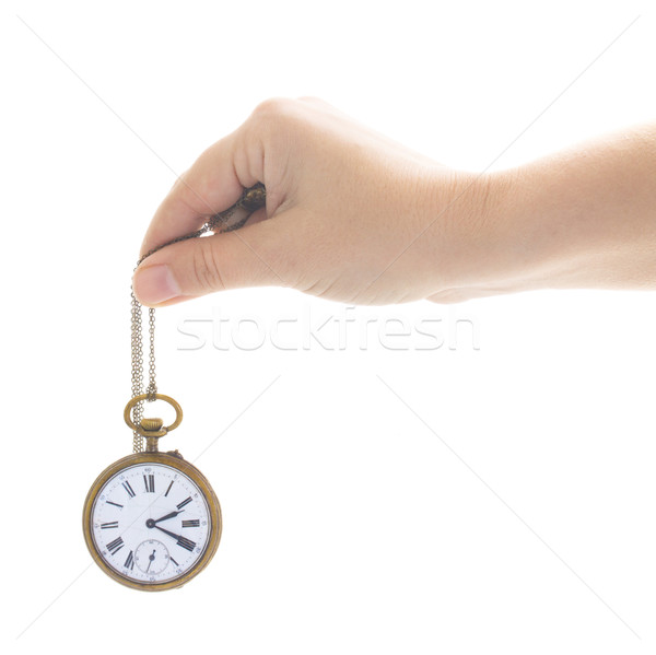 time concept with antique clock Stock photo © neirfy