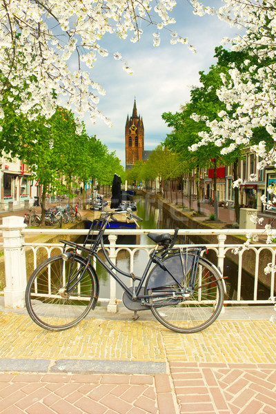 old town, Delft, Holland Stock photo © neirfy