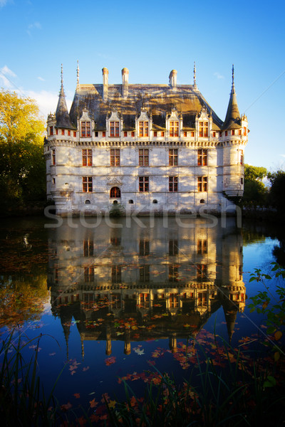 Azay-le-Rideau chateau, France Stock photo © neirfy