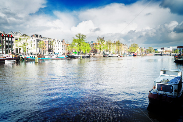 Amstel canal, Amsterdam Stock photo © neirfy