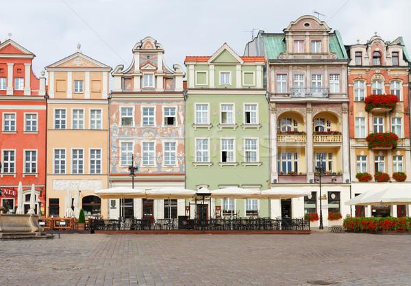 renaissance houses , Poznan, Poland Stock photo © neirfy