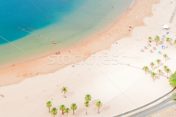 Strand tenerife antenne eiland hemel Stockfoto © neirfy
