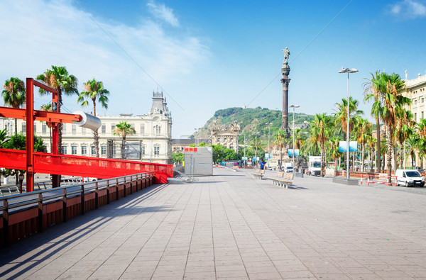 Embankment of Barcelona Stock photo © neirfy