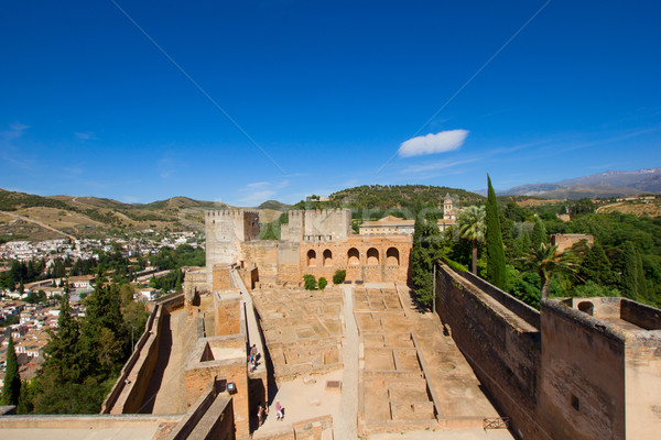Alcazaba fortress, Alhambra, Granada, SPain Stock photo © neirfy