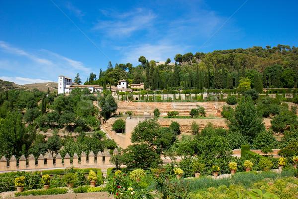 palace of Generalife, Granada Stock photo © neirfy