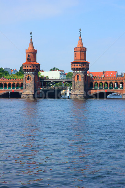 Oberbaum bridge, Berlin Stock photo © neirfy