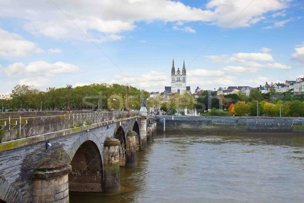 view of Angers  with  St Maurice, France Stock photo © neirfy