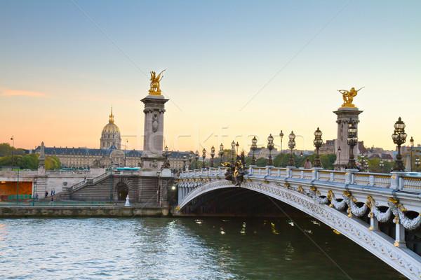 Bridge of Alexandre III,  Paris Stock photo © neirfy