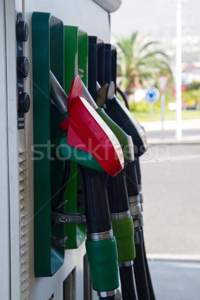 Tankstation rij industrie olie dienst Stockfoto © neirfy