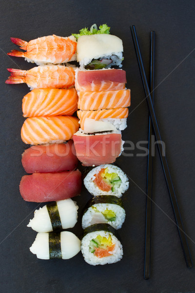lunch with  sushi dish Stock photo © neirfy