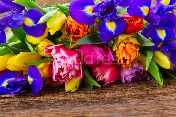 Stockfoto: Voorjaar · tulpen · vers · Pasen · bloem