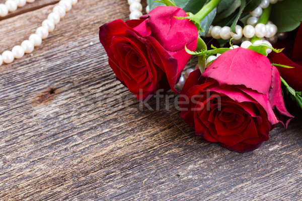 red roses on table  Stock photo © neirfy