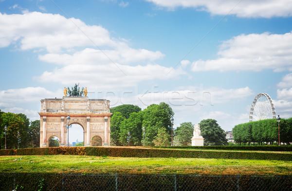 Arc de Triomphe du Carrousel, Paris, Stock photo © neirfy