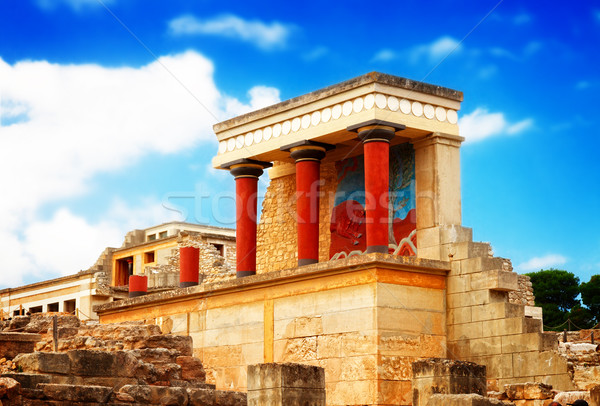 Knossos palace at Crete, Greece Stock photo © neirfy
