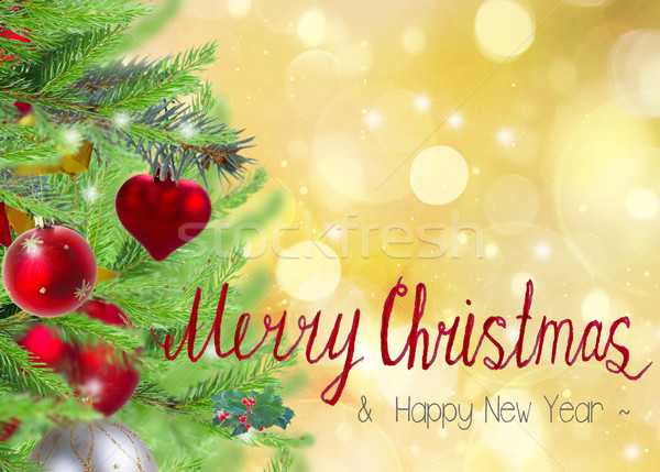christmas  border  with fir tree  Stock photo © neirfy