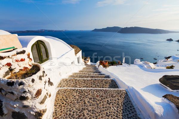 Bella dettagli santorini isola Grecia ripida Foto d'archivio © neirfy