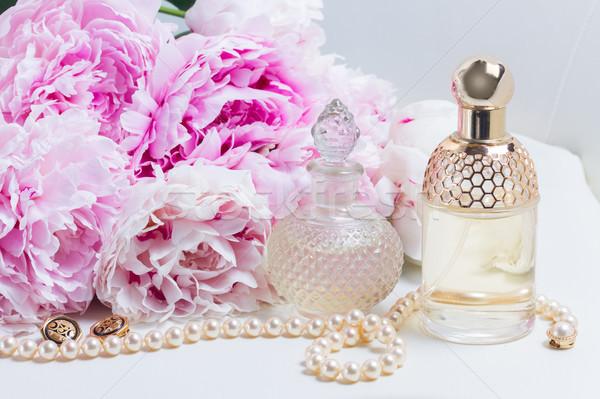 Photo stock: Mariage · mode · de · vie · fleurs · Homme · scène · fraîches