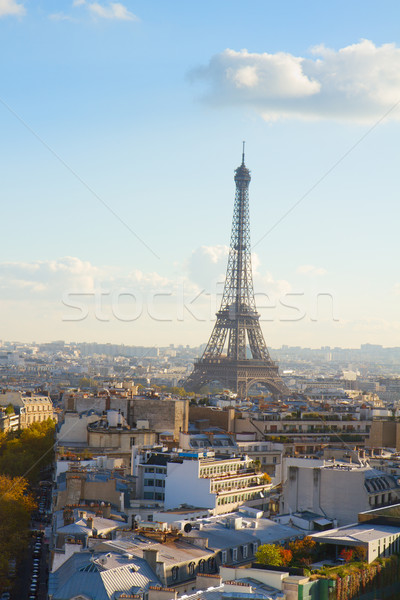 Eiffel gira París paisaje urbano otono día Foto stock © neirfy