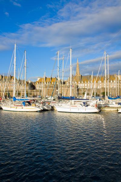 marina of  Saint Malo, France Stock photo © neirfy