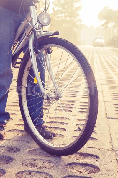 自転車 ホイール フロント レトロな スポーツ ストックフォト © neirfy