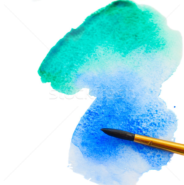 Stock photo: watercolor stroke with brush