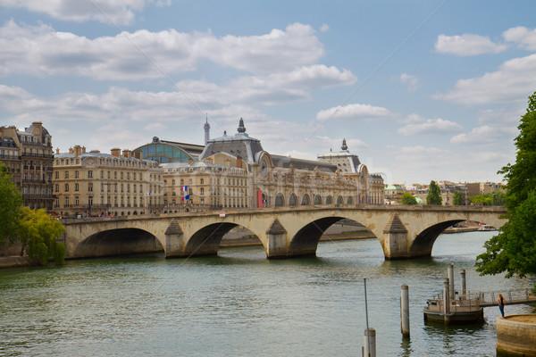 Müze nehir Fransa kraliyet Paris şehir Stok fotoğraf © neirfy