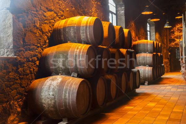 Bodrum şarap geleneksel ahşap Stok fotoğraf © neirfy