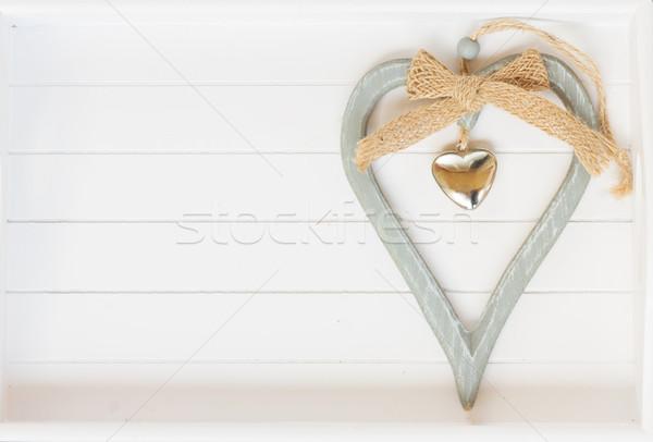 Heart on white  Stock photo © neirfy