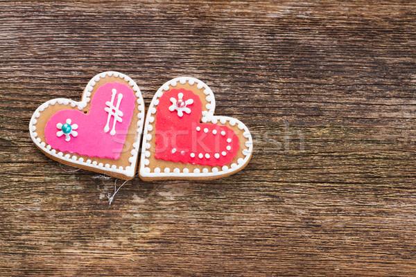 Dia dos namorados bolinhos coração comida amor Foto stock © neirfy