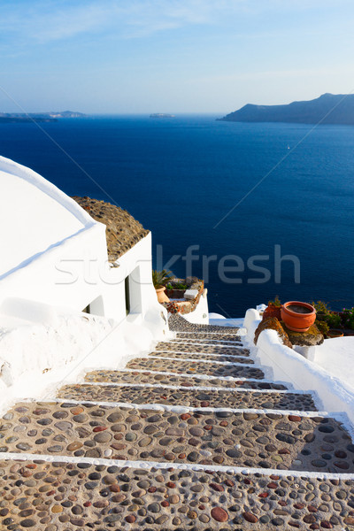 beautiful details of Santorini island, Greece Stock photo © neirfy