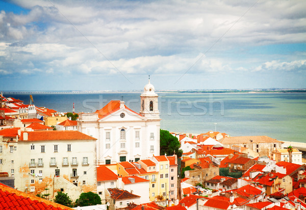 view of Alfama, Lisbon, Portugal Stock photo © neirfy