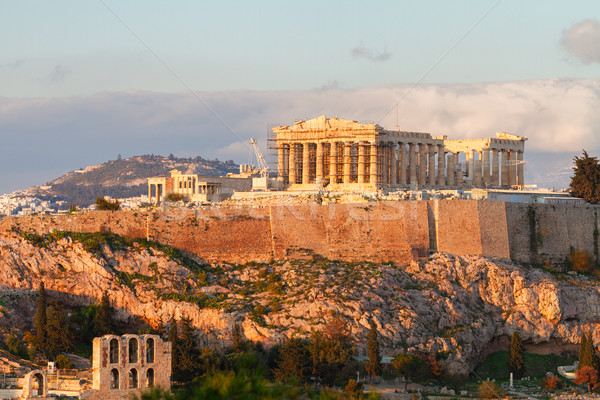 Stock photo: Famous skyline of Athens, Greece