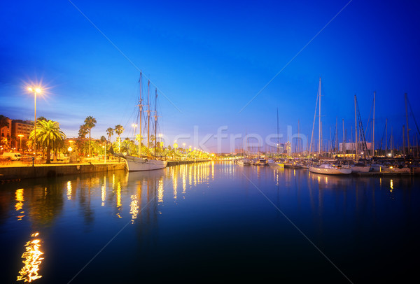 Port Vell and embankment of Barcelona Stock photo © neirfy