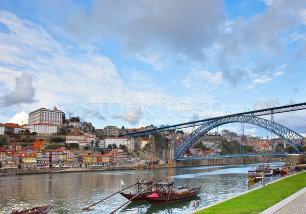 bishops palace and Dom Luis bridge,  Porto Stock photo © neirfy