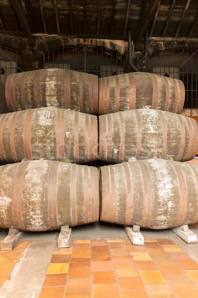 port wine barrels Stock photo © neirfy