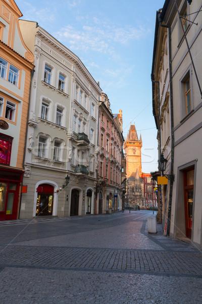 Sokak Prag boş Çek Cumhuriyeti yol Stok fotoğraf © neirfy