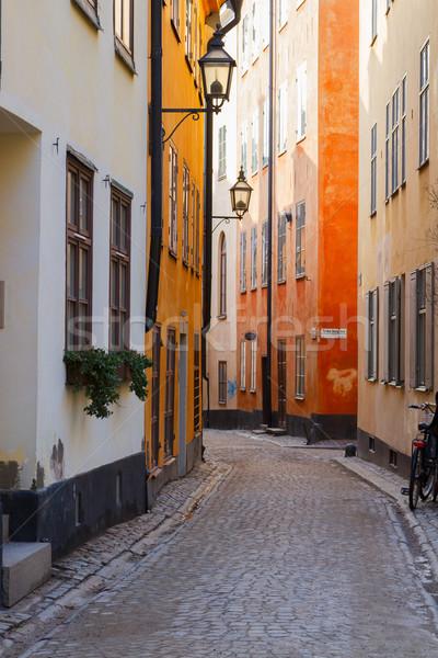 Starówka ulicy Sztokholm Szwecja drogowego Zdjęcia stock © neirfy